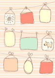 Background with frames in doodle style Royalty Free Stock Photo