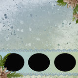 Background with frames and flowers Stock Images