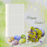Easter greeting card with frame Stock Image