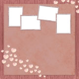 Background with frames and hearts Stock Photography