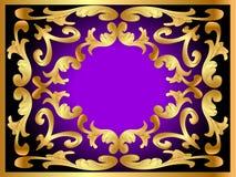 Background framewith gold(en) pattern Stock Images