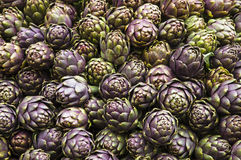 Background of fresh artichokes. Background of some fresh artichokes at market Stock Image
