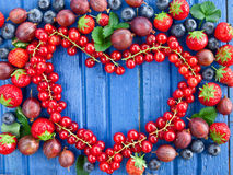 Background with fresh berries Stock Photo