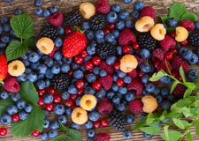 Background of fresh berries Stock Images