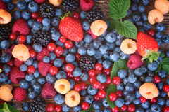 Background of fresh berries Royalty Free Stock Photos