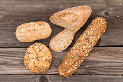 Background of fresh bread and bakery. Royalty Free Stock Photo