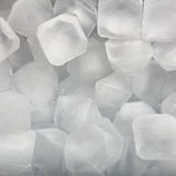 Background of fresh cold ice cubes closeup Royalty Free Stock Photo