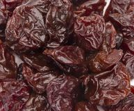 Background of Dried Cherries. Background of Fresh Dried Cherries Stock Photo
