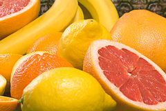 Background of fresh fruits. Background of fresh citrus fruits Royalty Free Stock Photo