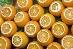 Background of fresh fruits of pomegranate oranges kiwi Stock Photography