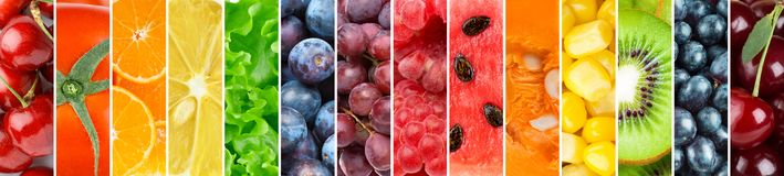 Background of fresh fruits and vegetables