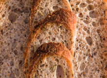 Background of fresh homemade Alpine Baguette. royalty free stock image