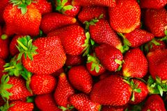 Background of fresh juicy strawberries