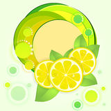 Background with fresh lemon Stock Photography