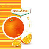Background with fresh orange royalty free illustration
