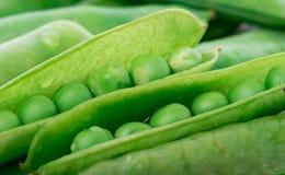 Background of fresh peas Stock Photo