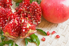 Background with fresh pomegranate Royalty Free Stock Photo
