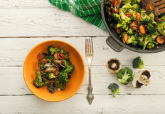 Background with fresh prepared vegetable mix dish Stock Photography