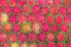 Background of fresh rambutans Royalty Free Stock Images