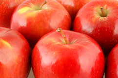 Background of fresh red apples Royalty Free Stock Images