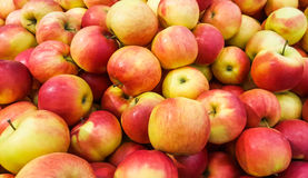 Background of fresh red apples. Fresh apples Royalty Free Stock Photos