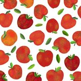 A background with fresh red apples stock illustration