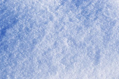 Background of fresh snow texture in blue tone. Close up Royalty Free Stock Photo