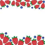 Background  fresh strawberries Stock Photography