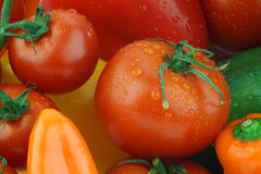 Background of fresh tomatoes Stock Photo