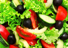 Background of fresh vegetable salad Stock Images