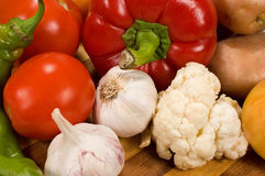 Background with fresh vegetables Royalty Free Stock Image