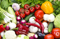 Background of fresh vegetables Royalty Free Stock Image