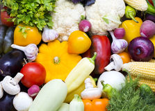 Background of fresh vegetables Stock Photos
