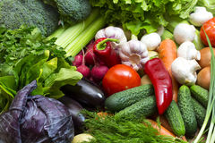 Background of fresh vegetables Royalty Free Stock Photography