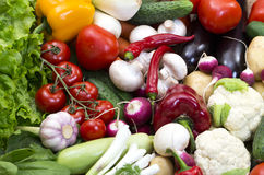 Background of fresh vegetables Royalty Free Stock Photo