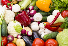Background of fresh vegetables Stock Photo