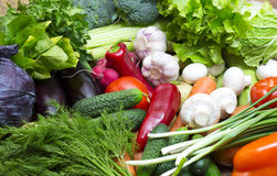 Background of fresh vegetables Royalty Free Stock Photos