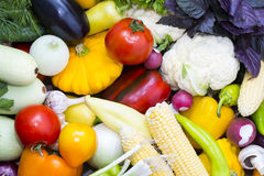 Background of fresh vegetables Royalty Free Stock Images