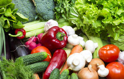 Background of fresh vegetables Stock Image