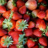 Background from freshly harvested strawberries, Fresh Strawberry Background stock photos
