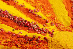 Background From Colourful Spices Royalty Free Stock Image