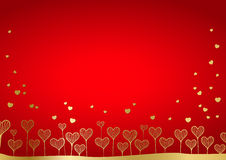 Background From Hearts Royalty Free Stock Photos