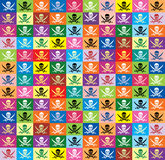 Background From Multicolor Flags Jolly Roger Stock Images