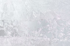 Background Frosty pattern on glass Stock Photo