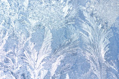 Background Frosty pattern on glass Stock Images