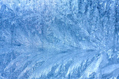 Background Frosty pattern on glass Royalty Free Stock Photography