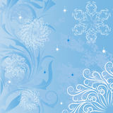 Background with frosty patterns Royalty Free Stock Images