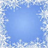 Background with frosty patterns Stock Image