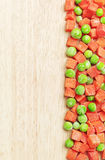 Background with peas and carrots Stock Photos