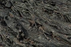 Background of frozen lava field at Tolbachik volcano, after eruption in 2012, Klyuchevskaya Group of Volcanoes Royalty Free Stock Photography